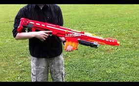 nerf n strike elite mega centurion range test stock