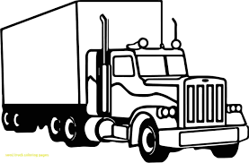 Semi Truck Vector Art At GetDrawings.com | Free For Personal Use ... Semi Truck Outline Drawing How To Draw A Mack Step By Intertional Line At Getdrawingscom Free For Personal Use Coloring Pages Inspirational Clipart Peterbilt Semi Truck Drawings Kid Rhpinterestcom Image Vector Isolated Black On White 15 Landfill Drawing Free Download On Yawebdesign Wheeler Sohadacouri Cool Trucks Side View Mailordernetinfo