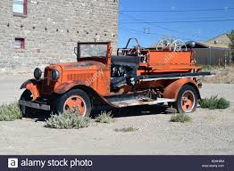 100 Ford Fire Truck OLD FORD FIRE TRUCK AT GOLDFIELD NEVADA Stock Photo 163095400 Alamy