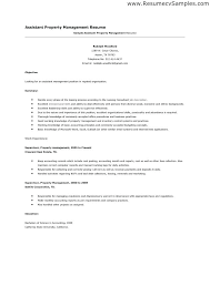 Property Manager Resume Sample Management Resumes Samples New Assistant Maintenance