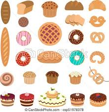 Pastry Illustrations Set 822