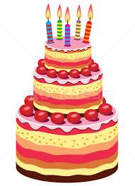 vector big birthday cake vector illustration © Dmitry Merkushin freesoulproduction