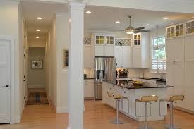 inline exhaust fan with glass cabinets kitchen contemporary and