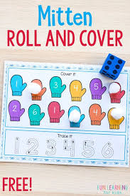 This Mitten Roll And Cover Activity Is Perfect For Winter Literacy Math Centers A Fun Engaging Way To Learn Letter Sounds
