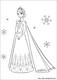 Frozen Coloring Pages On Book