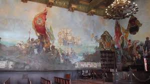 santa barbara sept 9 the mural room of the county courthouse