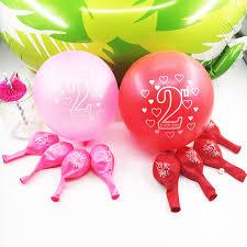 zljq 20 pc 2 ans d anniversaire ballons fille garçon heureux fête