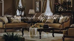 Claremore Antique Sofa And Loveseat by Victorian Living Room Collection In Antique Walnut By Savannah