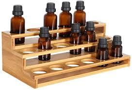 phantomsky 18 löcher bambus organizer aromatherapie geschenk box halter ätherische öle flaschen holz aufbewahrung display regal geeignet für