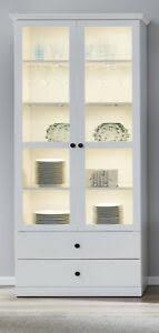 schrank vitrine landhaus in weiß vitrinenschrank esszimmer
