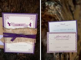 Purple And Burlap Wedding Invitations Rustic Chic Inspiration Shoot Every Last Detail