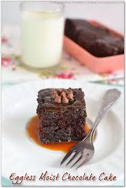 Eggless Chocolate Cake Moist Chocolate Cake Recipe No eggs no