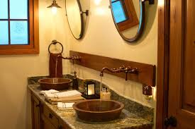Drop In Bathroom Sink With Granite Countertop by Bath U0026 Shower Gorgeous Copper Bathroom Sinks With Elegant Deep