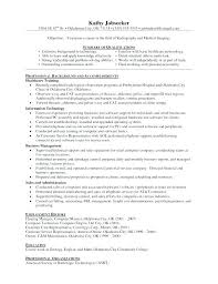 X Ray Technologist Resume Example Free Examples For