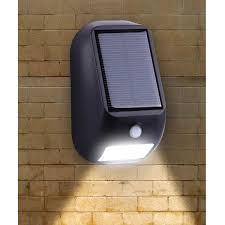 solar led wall light with pir motion sensor 160lm ip55 le