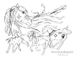 Spirit Horse Coloring Pages Ring Printable Mustang Horses Paint And Rain