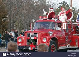 100 Fire Truck Ride On Santa Claus And Mrs Claus Ride In On An Antique 1960 Fire Truck At A
