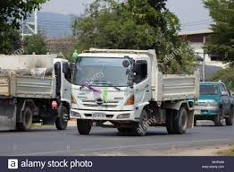 CHIANG MAI, THAILAND - APRIL 8 2018: Private Hino Dump Truck. On ...