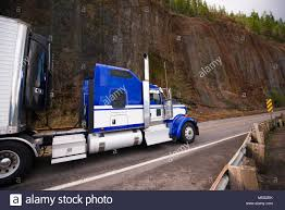 Blue Classic American Make Big Rig Semi Truck With Stainless Steel ...