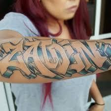 Graffiti Tattoo Chest And Stomach