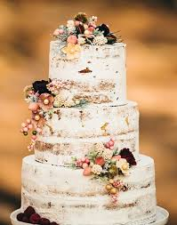 Vintage Rustic Wedding Cake Idea For Fall