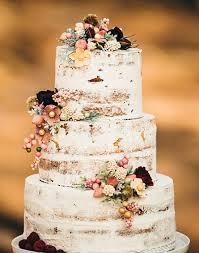 Vintage Rustic Wedding Cake Idea For Fall