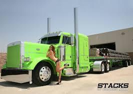 Green Rig | Girls & Big Rigs | Pinterest | Trucks, Peterbilt And Big ...