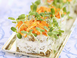 crab canapes tuna and crab sandwich canapes with marigolds and cress recipe eat