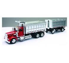 100 Toy Kenworth Trucks 143 Scale W900 Double Dump Truck NewRay S
