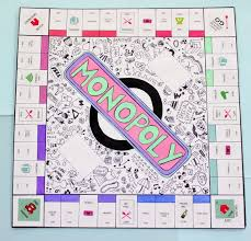 DIY Personalised Monopoly Board Game