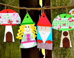 Garden Gnome And Mushroom Banner Craft Kit