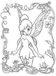 Beautifull Tinkerbell Coloring Pages