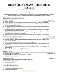 Special Restaurant Manager Resume Examples Assistant Sample Fieldstatio 8606 20
