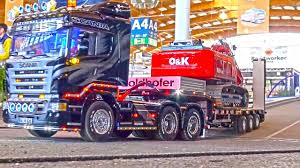 100 Truck It Transport RC Action As Its BEST MAN Scania MB Arocs Trailer