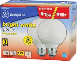 15 watt globe cfl light bulb 3500k cool white e26 medium base