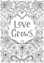 Free Printable Coloring Pages For Adults No Downloading Download Pdf Love Grows Colouring Inspirational Large