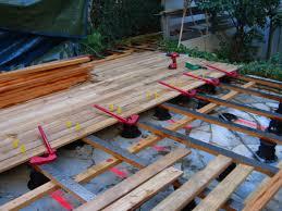 plot reglable pour terrasse bois réalisation de terrasse et escalier en teck pose vissée