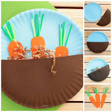 Carrots In The Garden Craft For Kids Easy Paper Plate Spring Or Easter Step
