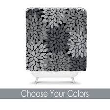 Black And White Flower Shower Curtain by Best Dahlia Shower Curtain Products On Wanelo