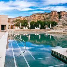 100 Hotel Amangiri Best Pool Experiences Sunset Magazine