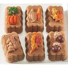 Nordic Ware Pumpkin Loaf Pan Recipe by Amazon Com Nordic Ware Harvest Mini Loaf Pan Kitchen Novelty