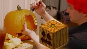 Werewolf Pumpkin Carving Ideas by Halloween Minecraft Pumpkin Carving Youtube