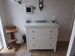 Hemnes 3 Drawer Dresser As Changing Table by Ikea Hemnes 3 Drawer Chest Of Drawers And Glass Top In Sandwell