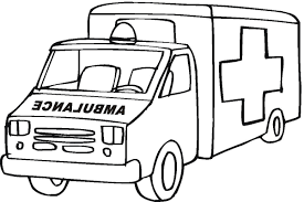 Ambulance Coloring Pages Preschool Cars Trucks And Trains In