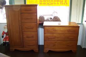 Antique Birdseye Maple Dresser With Mirror by Fine Quality Furniture