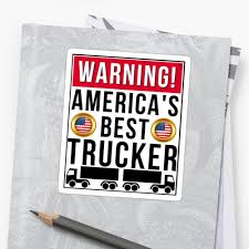 Warning America's Best Trucker Trucker Truck Driver T-Shirt ... Truck Driver Gifts Drink Cofee Be Amazing And Sleep Trucker Coffee 114 Scale Cargo Action Figures Men Blue With Official Title Badass Fathers Day Gift 2018 Hot Sale Super Fashion Clothing Male Crossfit T Shirt _ Truck Driver Gift Ideas Popular Everything Videos Idea For 18 Mens Dad Shirt Employee Recognition Awards Shirts Funny Tshirt Asphalt Cowboy Key Chain Semi Charm