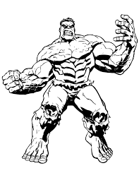 Big Muscle Incredible Hulk Coloring Page