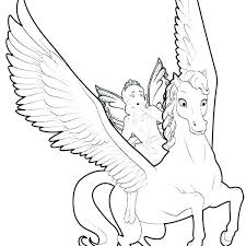 Winged Unicorn Coloring Pages Flying Free Printable Of Animals Games