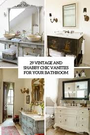 Shabby Chic White Bathroom Vanity 29 vintage and shabby chic vanities for your bathroom digsdigs