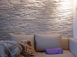 schieferwand creme im wohnzimmer steinwand wand wanddesign